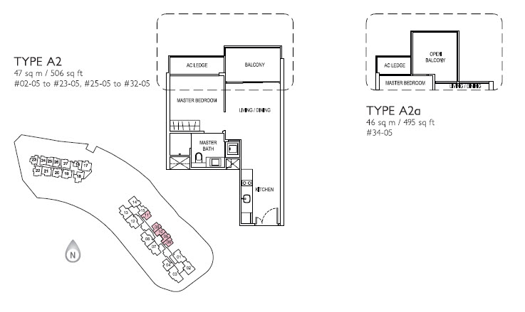 1 Bed Type A z
