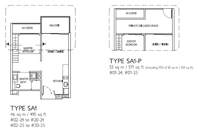 1 Bedroom SA1