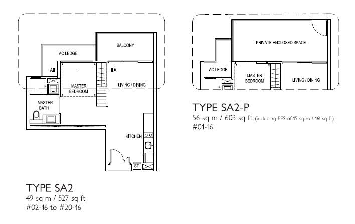 1 Bedroom SA2