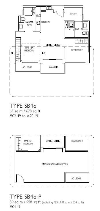 2 Bed + Study SB4a