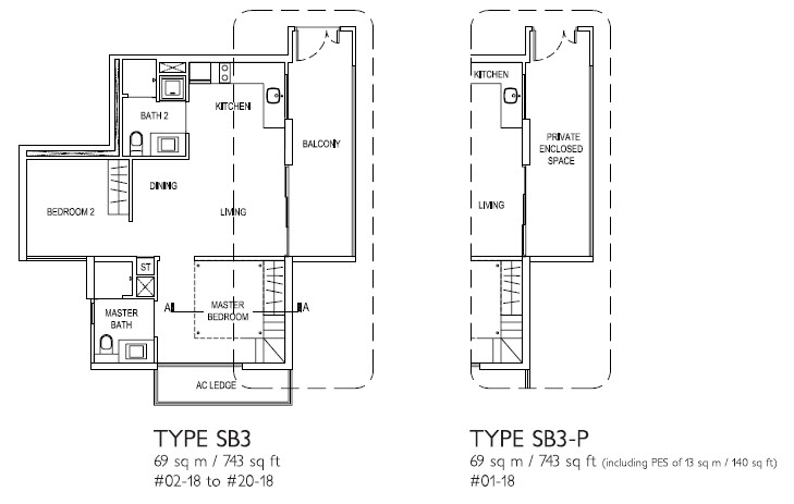 2 Bed SB3