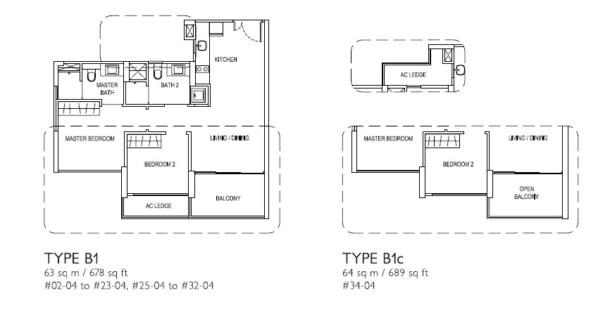 2 Bed Type B1