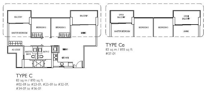 3 Bed Type C