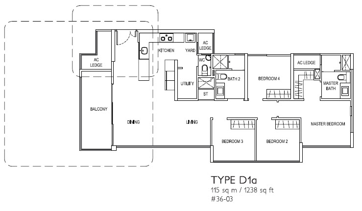 4 Bed Type D1a